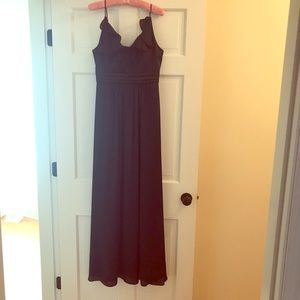 BCBG Navy Blue Long Gown